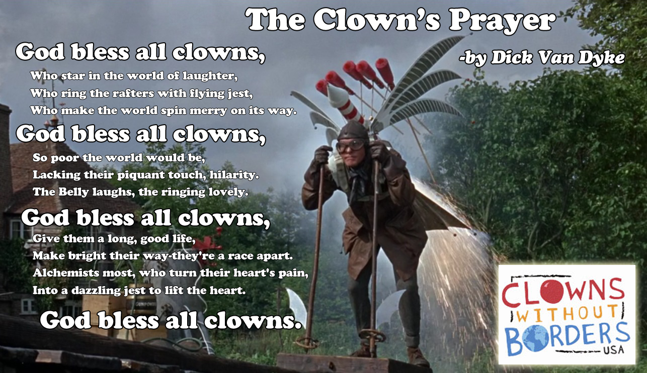 Dick Van Dyke funny the Clowns Prayer