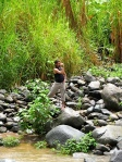 Caelan Huntress videography in a costa rica river