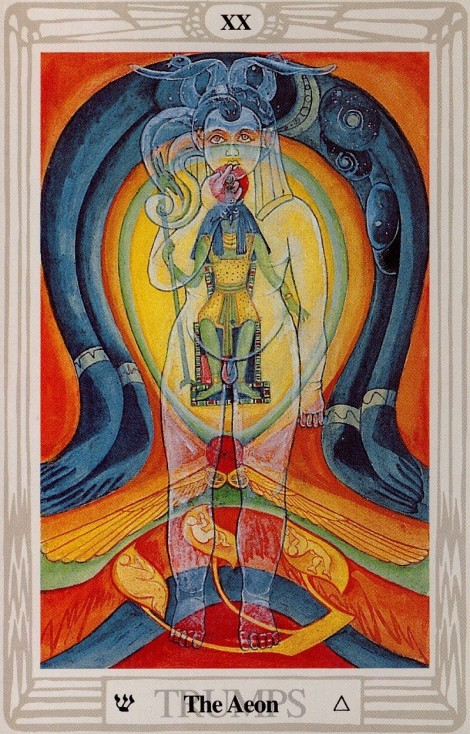 Aeon Twentieth trump Thoth tarot card