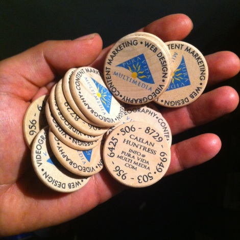 Business Card Coins