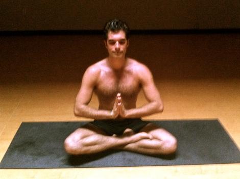 Caelan meditating