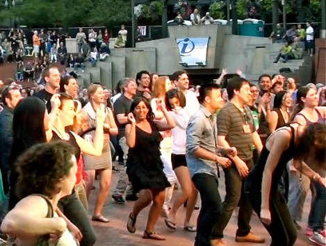 WDS2013 Dance Party in Pioneer Square