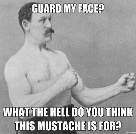Overly manly man mustache meme