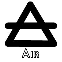 elemental air alchemical symbol