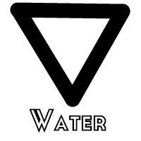 elemental water alchemical symbol