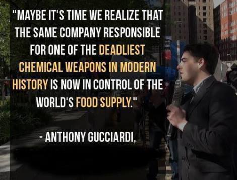 Anthony Guciiardi quote Monsanto agent orange