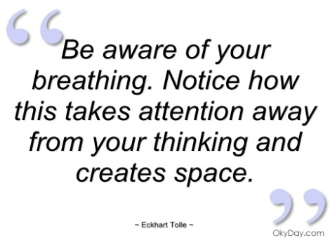 Eckhart Tolle breathing quote