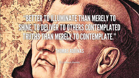 Thomas Aquinas quote illumination